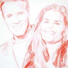 """Schwarzenegger & Shriver, 11 x 14"""""""