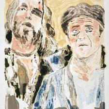"""Jesus & Gibson, 13 x 20"""""""