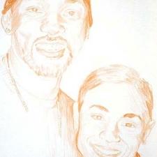 """Smith & Pinkett-Smith, 11 x 14"""""""