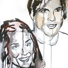 Moore/Kutcher, 20 x 24