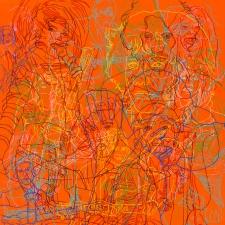 Self-Destructive Musician Tangle, 39 x 39